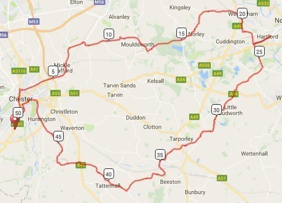 Bike Chester 2017 50m