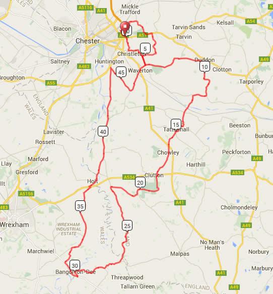 Bike Chester 50m Route