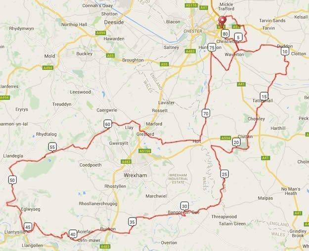 Bike Chester 80m Route