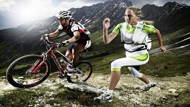 Cyclist & Runner by BikeRoar