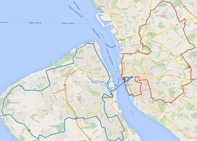 Liverpool Nightrider Route Map