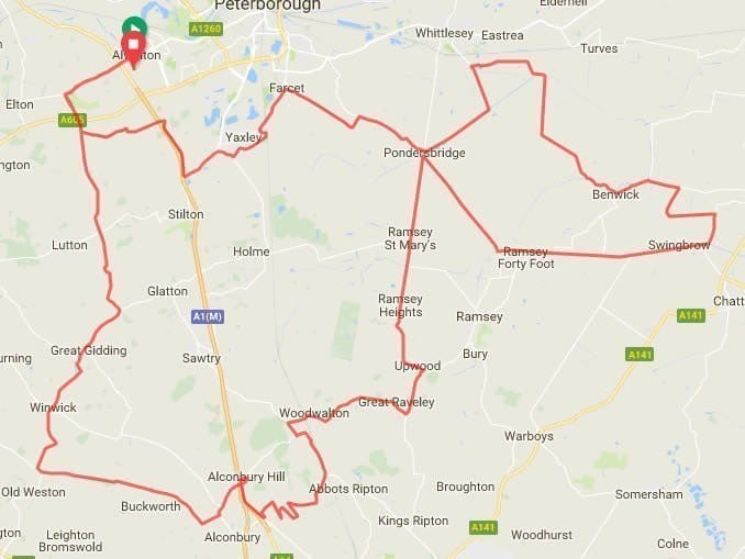 tour-of-cambridgeshire-route-map
