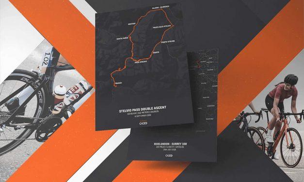 Cyced Strava Route Cycling Prints
